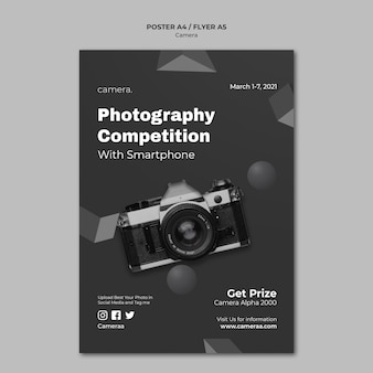 Camera poster template