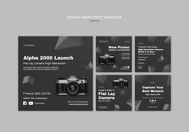 카메라 소셜 미디어 게시물