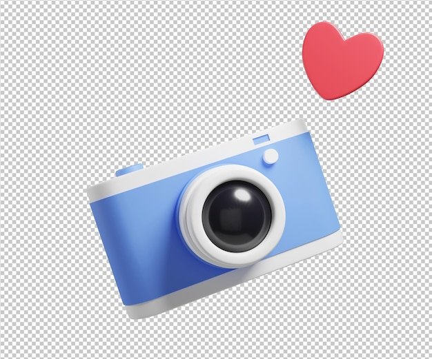 Фотоаппарат с любовью 3d иллюстрации