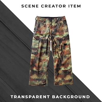 Camo pants isolated with clipping path.