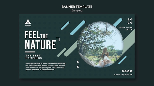 Camping place banner template
