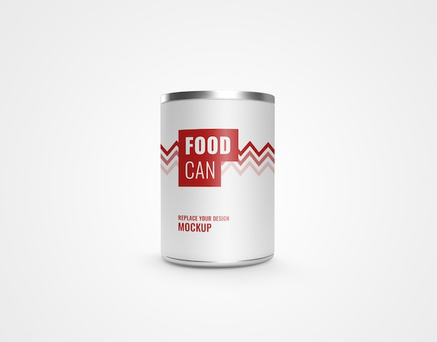 Can metal food realistic mockup 3d rendering