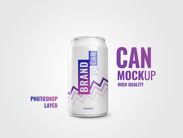Can mockup realistic 3d rendering