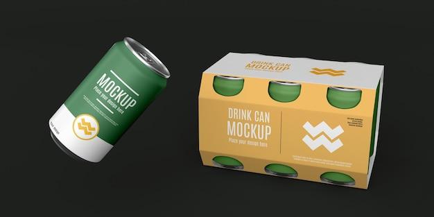 Макет дизайна упаковки банок