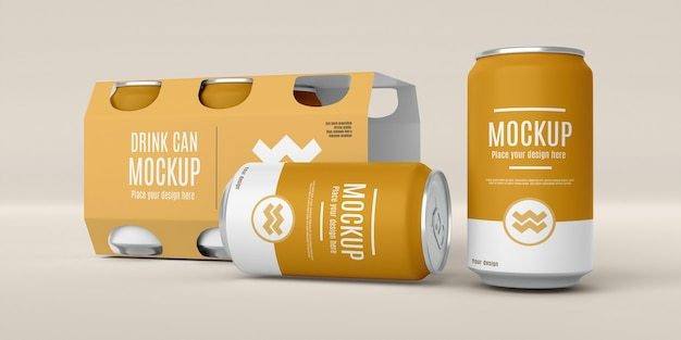 Can packaging design mockup