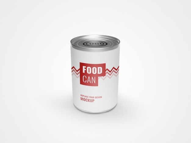 Can packaging food mockup