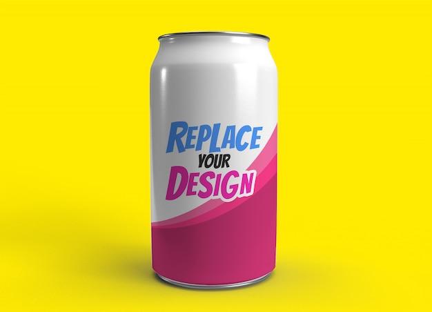 Can soda mockup realistic