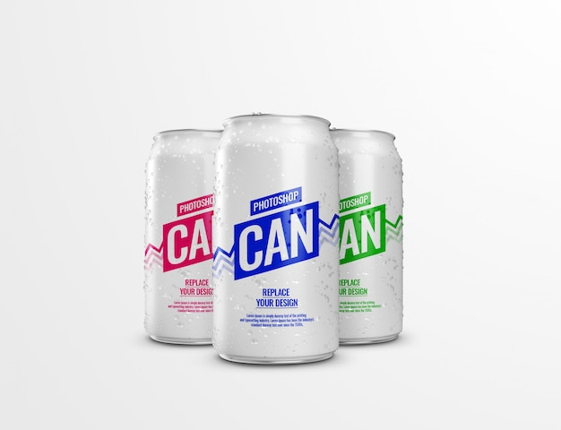 Can soda realistic mockup 3d rendering