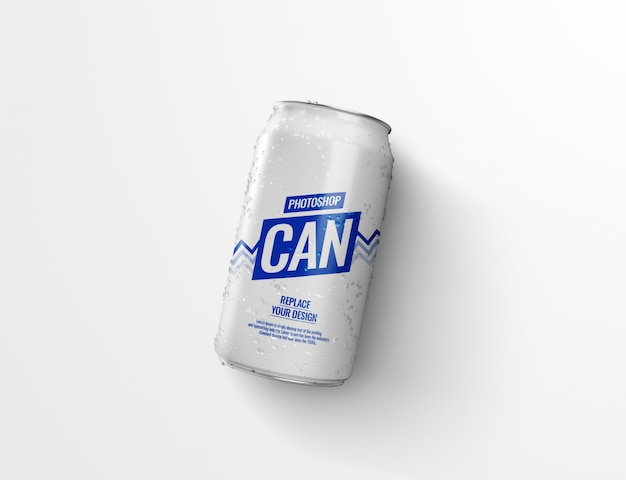 Can of water on floor cast shadow mockup