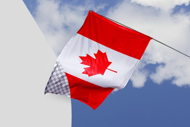 Canada flag concept mock-up