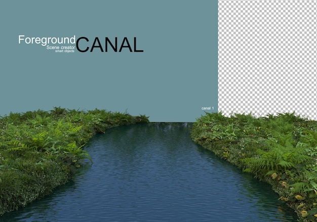 Canal views and waterfront plants