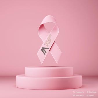 Изолированный макет ленты осведомленности рака