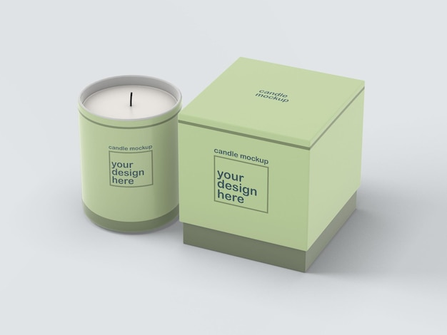 Candle and box mockup