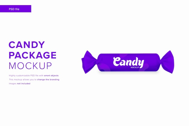 Candy package mockup in modern design style