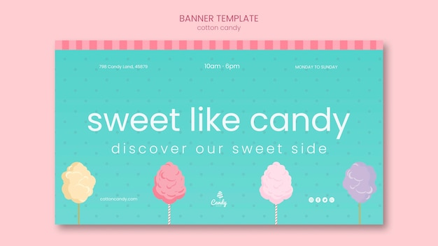 Candy shop banner template