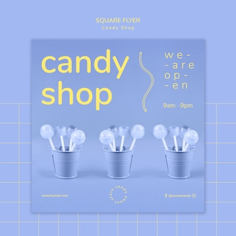 Candy shop design for flyer template