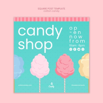 Candy shop flyer template