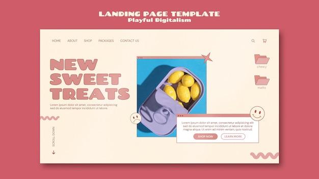 キャンディショップのランディングページテンプレート