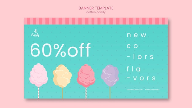 Candy shop template banner