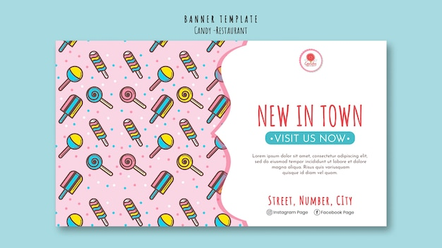 Candy shop template for banner