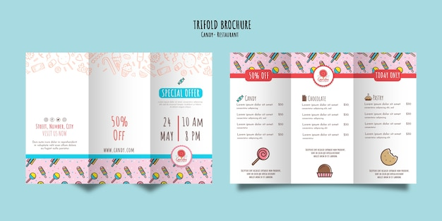 Candy shop template for brochure