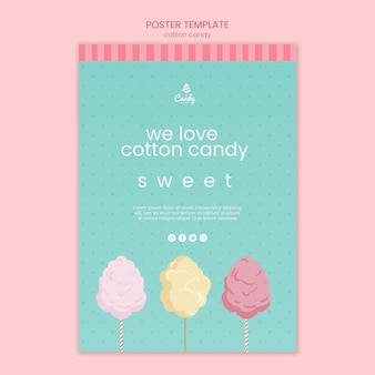 Candy shop template poster