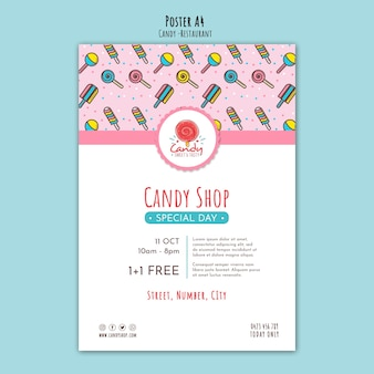 Candy shop template for poster
