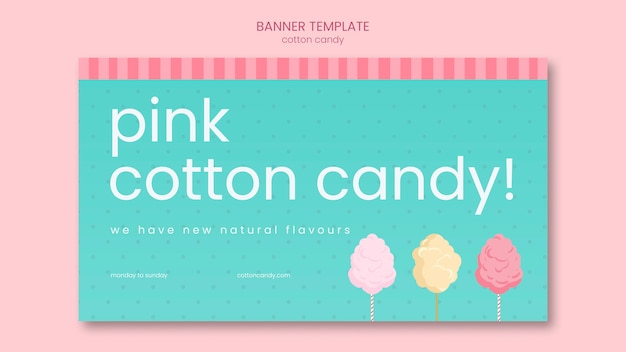 Candy store banner template