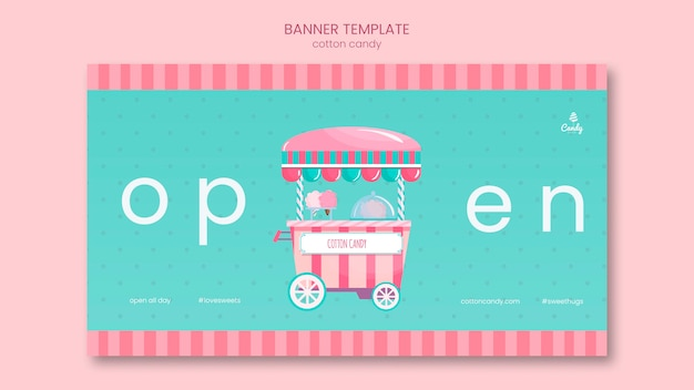 Banner modello candy store