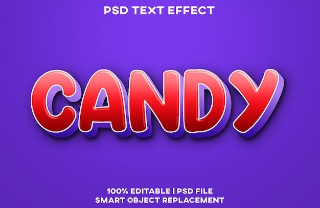 Шаблон стиля текстового эффекта конфеты