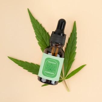 大麻サティバオイルボトルモックアップ