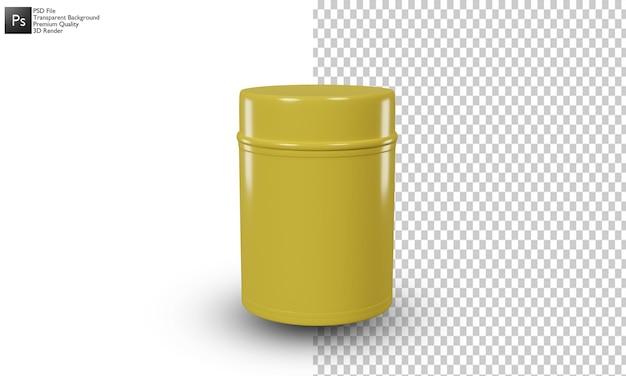 缶イラスト3dデザイン