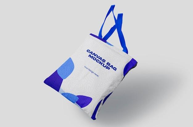 Canvas bag mockup design in 3d rendering