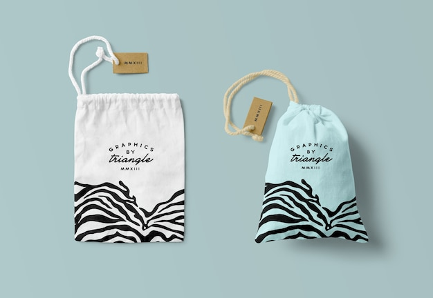 Canvas bag mockups isolated