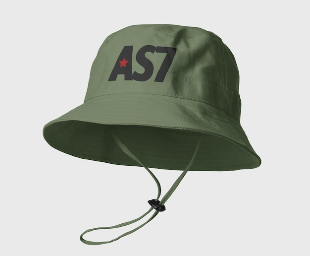 Canvas bucket hat mockup design isolated