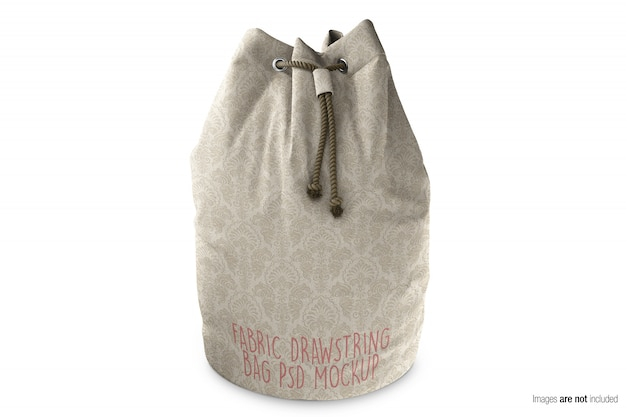 Canvas fabric drawstring bag  mockup