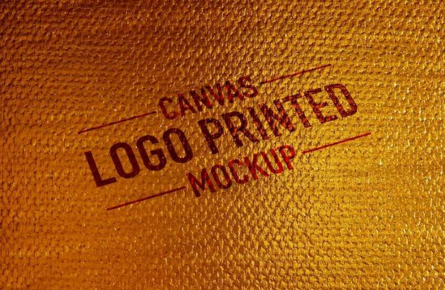 Canvas logo printed mockup