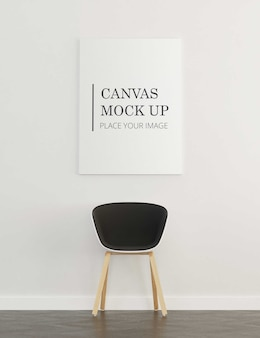 Canvas mock up with chair