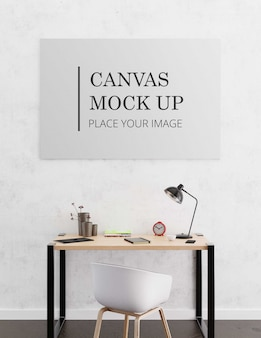 Canvas mock up with workspace