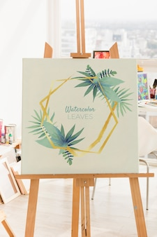 Canvas mockup with art concept
