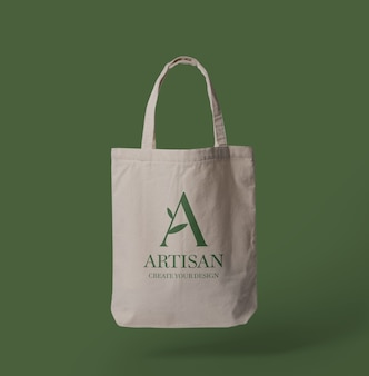 Canvas tote bag mockup design