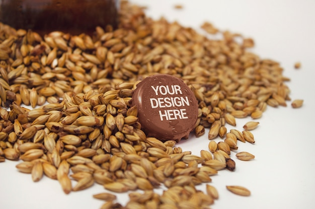 Cap mockup with malt