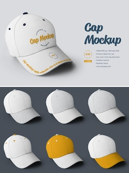 Cap mockups. design is easy in customizing images design visor, all sectors and only front visor, color all elements, heather texture