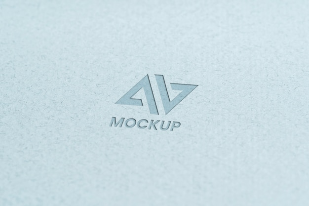 Capital letter mock-up logo design