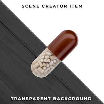 Capsule isolated with clipping path