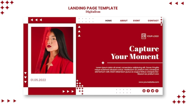Capture the moment landing page