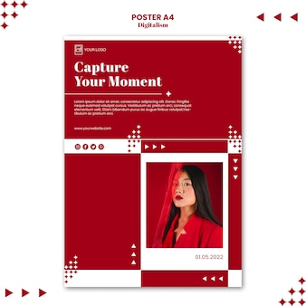 Capture your moment poster print template