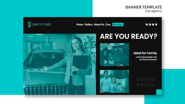 Car agency banner template