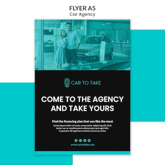 Car agency flyer template
