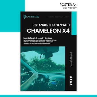 Car agency template poster